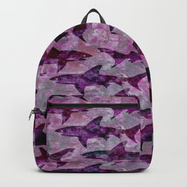 Danger: Purple Shark Attack Backpack