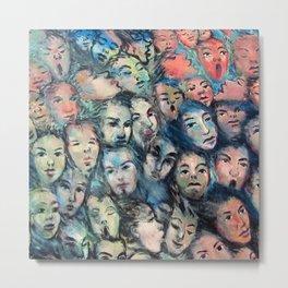 face, face, face Metal Print