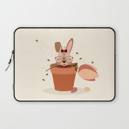 Lapin et tulipe Laptop Sleeve
