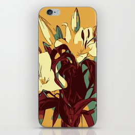 Spring is coming. Abstract vector image of beautiful lilies iPhone Skin