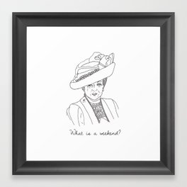 Dowager Countess of Grantham Framed Art Print