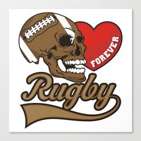 rugby Canvas Prints featuring RUGBY by frail