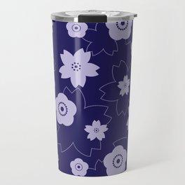 Sakura blossom - midnight blue Travel Mug