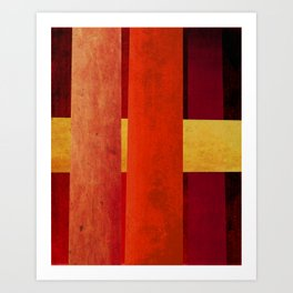 Red & Yellow Art Print