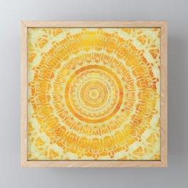 Sun Mandala 4 Framed Mini Art Print