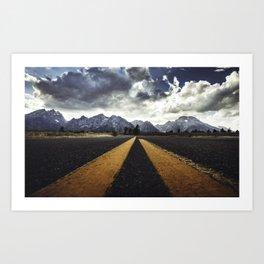 gran teton national park Art Print