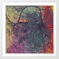 nashville Art Prints featuring Nashville by Artsy B