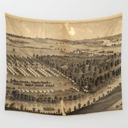Camp Foster, Cuyahoga Falls, Ohio (1880) Wall Tapestry