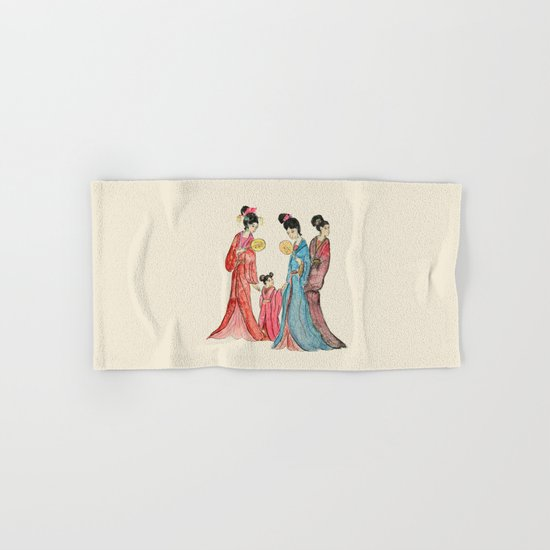 Ancient Chinese ladies painting Hand & Bath Towel