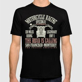 Retro California Biker Classic Vintage Motorcycle Gift T-shirt