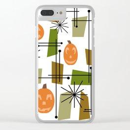 Halloween Mid Century Modern Clear iPhone Case
