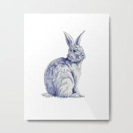 Blue Bunny Metal Print