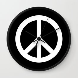 Peace (White & Black) Wall Clock