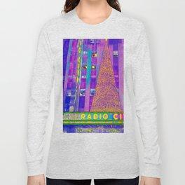 Radio City Music Hall with Holiday Tree, New York City, New York Long Sleeve T-shirt