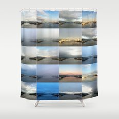 The Many Faces of the Fremont Bridge Shower Curtain