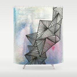Geometrical Watercolour Shower Curtain