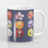 fairies Mugs featuring Floral Fairies by ColourMoiChic