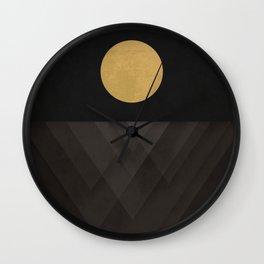 Moon Reflection on Quiet Ocean Wall Clock