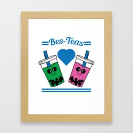 Show to the world that you and your bestfriend are tea lovers with this cute and adorable tee design Framed Art Print