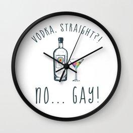 GAY VODKA Wall Clock