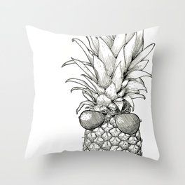 Sunny Days Pineapple Throw Pillow