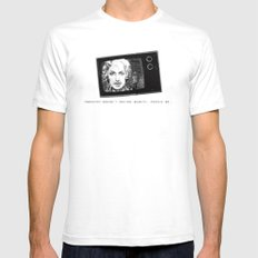 beauty White Mens Fitted Tee SMALL