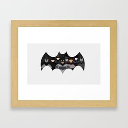 Who is the Bat? Framed Art Print