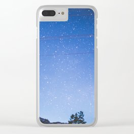 Yellowstone Stars Clear iPhone Case
