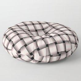 Pastel Pink Weave Floor Pillow