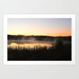 Sunsets and Steam Art Print