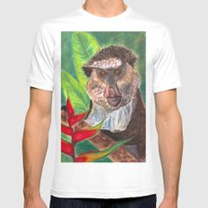 Mona Monkey White MEDIUM Mens Fitted Tee