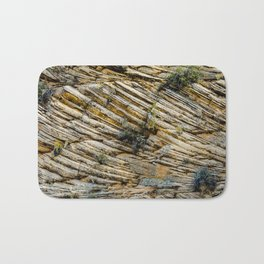 LAYERS OF TIME IN ANCIENT SANDSTONE Bath Mat