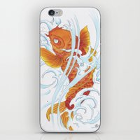 koi fish iPhone & iPod Skins featuring Koi Fish by Give me Violence