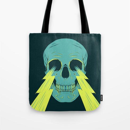 Lightning Skull Tote Bag