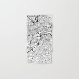 London White Map Hand & Bath Towel