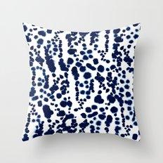 Navy Dalmatian Throw Pillow