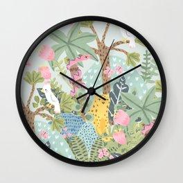Junge flora Wall Clock