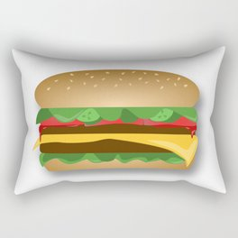 Yummy Cheeseburger Rectangular Pillow