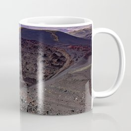 Lava field. Lava mountains of different colors. Coffee Mug