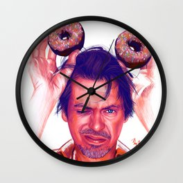 Steve Buscemi and donuts Wall Clock