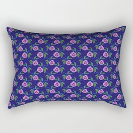 Peony Floral Floating Pattern Rectangular Pillow