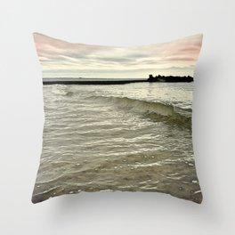 Sunset Crashing Throw Pillow