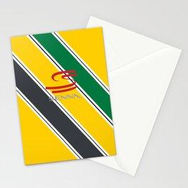 Ayrton Senna Stripes Logo Stationery Cards