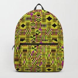 Kente Cloth // Fuego  & Violet-Red Backpack