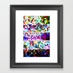 Geometric Worlds (Five Panels Series) Framed Art Print