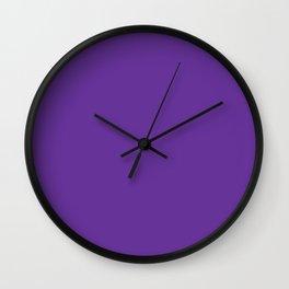 Rebecca Purple - solid color Wall Clock