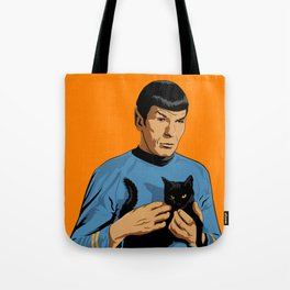 Spock's cat Tote Bag