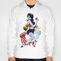 marceline Hoodies featuring Marceline Pin-Up by Natalie Nardozza