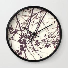 crabapple berries Wall Clock