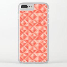 Geometic pattern Clear iPhone Case